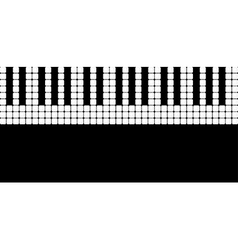 Piano roll vector image