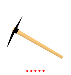 pickaxe icon flat style vector image