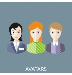 Reception manager avatars vector