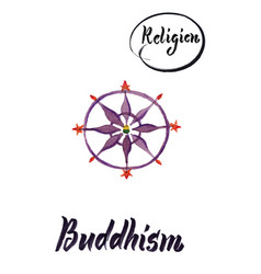 religious sign-buddhism vector image