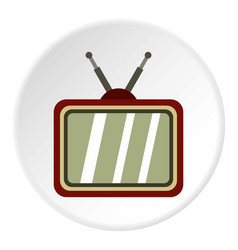 Retro tv icon circle vector