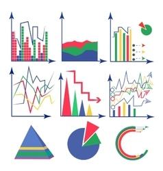 Set chart flat vector image