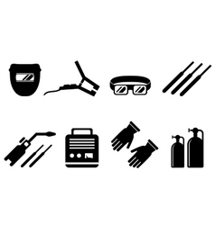 Set of welding equipment vector