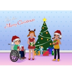 Share Cristmas for Special needs children vector