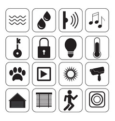 smart home icons technology conceptual system vector image