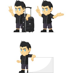 Spiky Rocker Boy Customizable Mascot 14 vector image