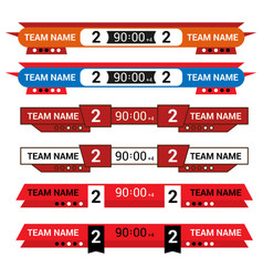 sport scoreboard with time and result display vector image
