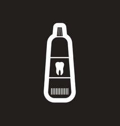 Stylish black and white icon tooth paste vector
