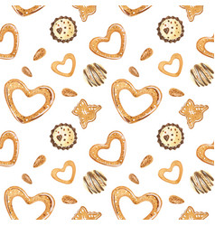 Sweet romantic watercolor pattern with chocolate vector