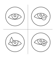 Symbols of myopia and hyperopia vector