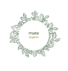 Template mate organic circle vector