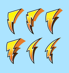 thunderbolt collection set vector image