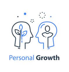Two human head profiles self esteem vector