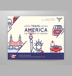 united states america travel graphic content vector image