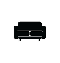 upholstered sofa or couch with two seats black vector image