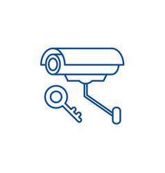 video alarm line icon concept video alarm flat vector image