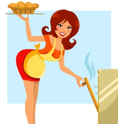 woman baking vector image