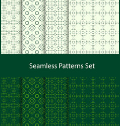 dotted oriental motif seamless pattern set vector image vector image
