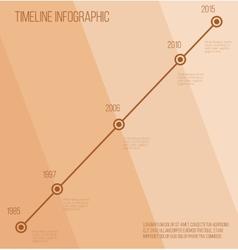 Flat beige diagonal timeline infographic vector image