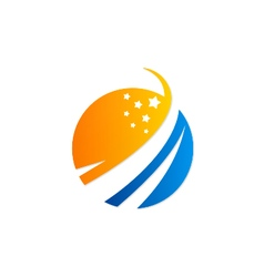 globe star logo vector image