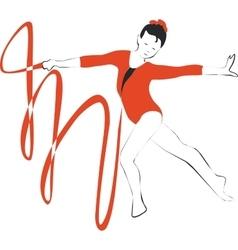 Gymnast in color 01 vector image