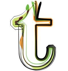 Organic Font vector image vector image