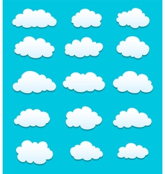 white clouds with shadows vector image vector image