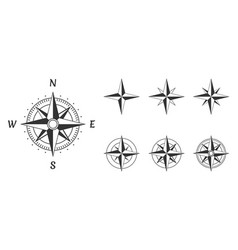 compass wind rose vector image