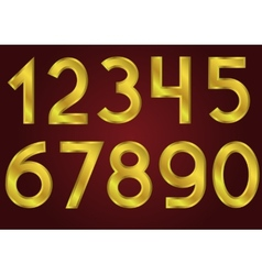 Golden numbers vector image