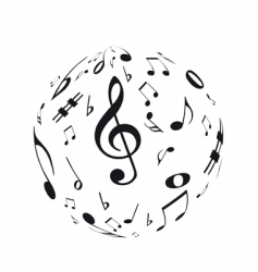 music sphere vector image vector image