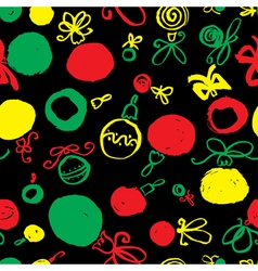 Seamless pattern with decoration balls vector