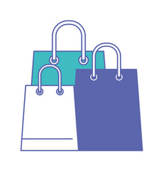 trapezoid shopping bag set with handle in blue and vector image vector image