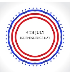 American Independence Day July 4th greeting card i vector image vector image