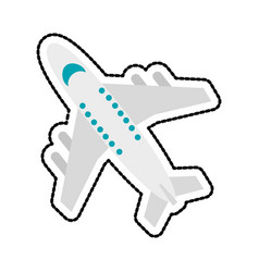 commercial airplane icon image vector image vector image