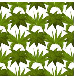 green plants seamless pattern design vector image vector image