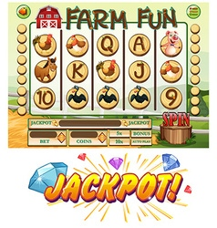 Game template with farm animals vector image vector image