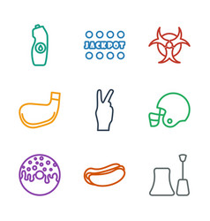 9 poster icons vector