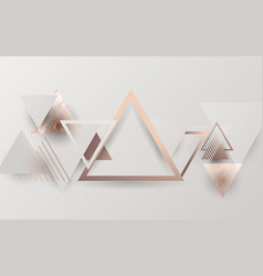 abstract modern triangles trendy retro background vector image
