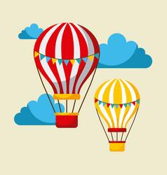 Airballoons flying carnival fun fair vector
