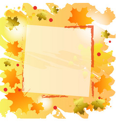 Background with orange and golden maple leaves vector