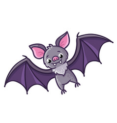 Bat on a white background vector