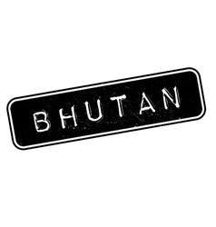 Bhutan rubber stamp vector image