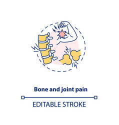 Bone and joint pain concept icon vector