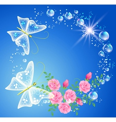 bubbles and roses vector image