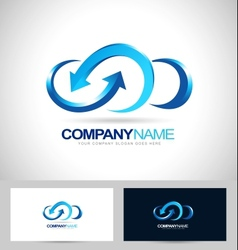 business cloud blue vector image