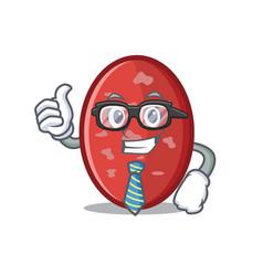 Businessman salami character cartoon style vector