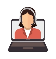 call center online support design vector image