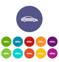 car icons set color vector image