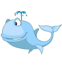 cartoon character whale vector image