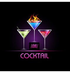 Cocktail background vector image
